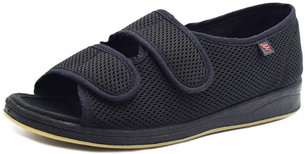 DS-Slippers Womens Extra Wide Swollen Foot Shoes,Comfortable Indoor/Outdoor Sandals Diabetic Slippers with Adjustable