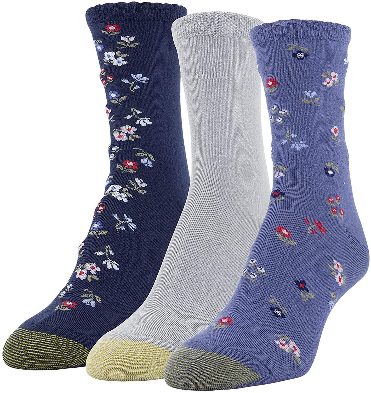 Gold Toe Women's Designer Collection Midi Socks, 3 Pairs