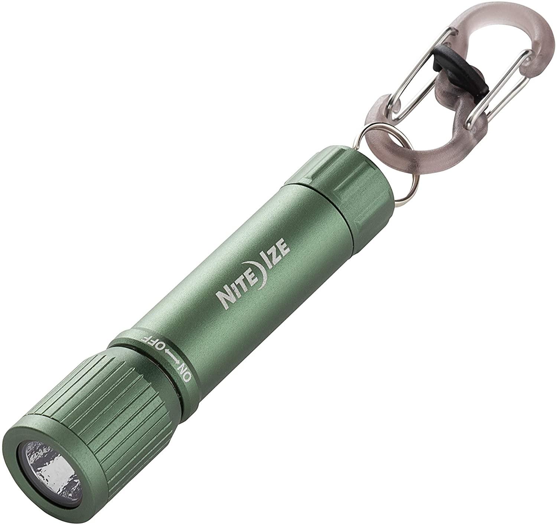 Nite Ize R100F-08-R7 Radiant 100 Keychain EDC Flashlight, Olive