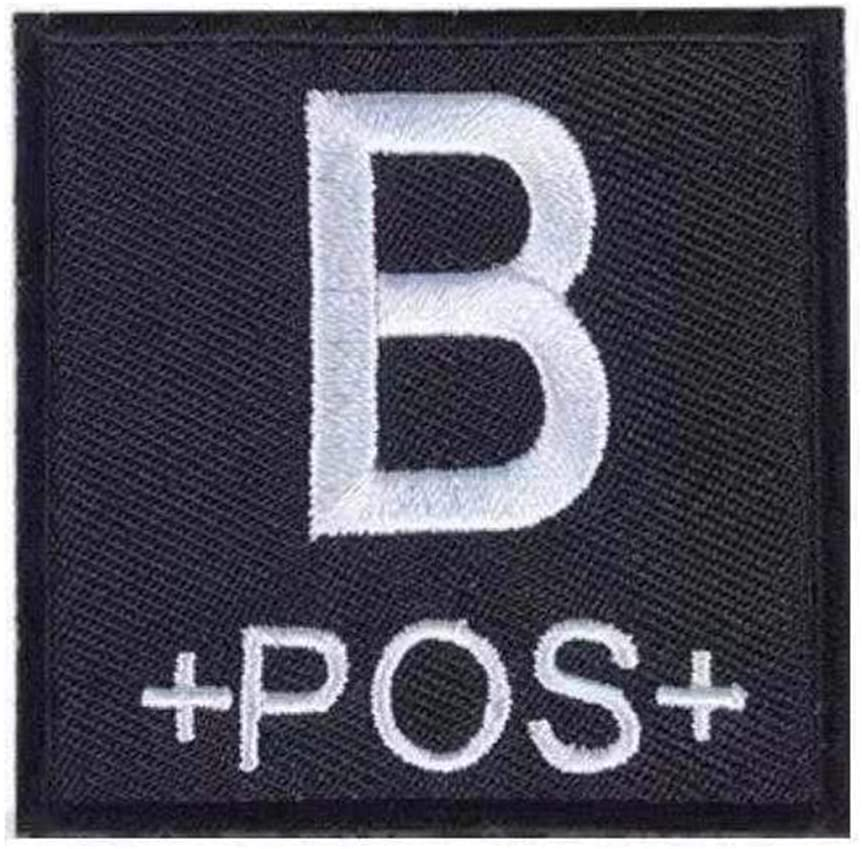 Morton Home Military Blood Type Positive Tactical Army Embroidered Patch (B+pos+)