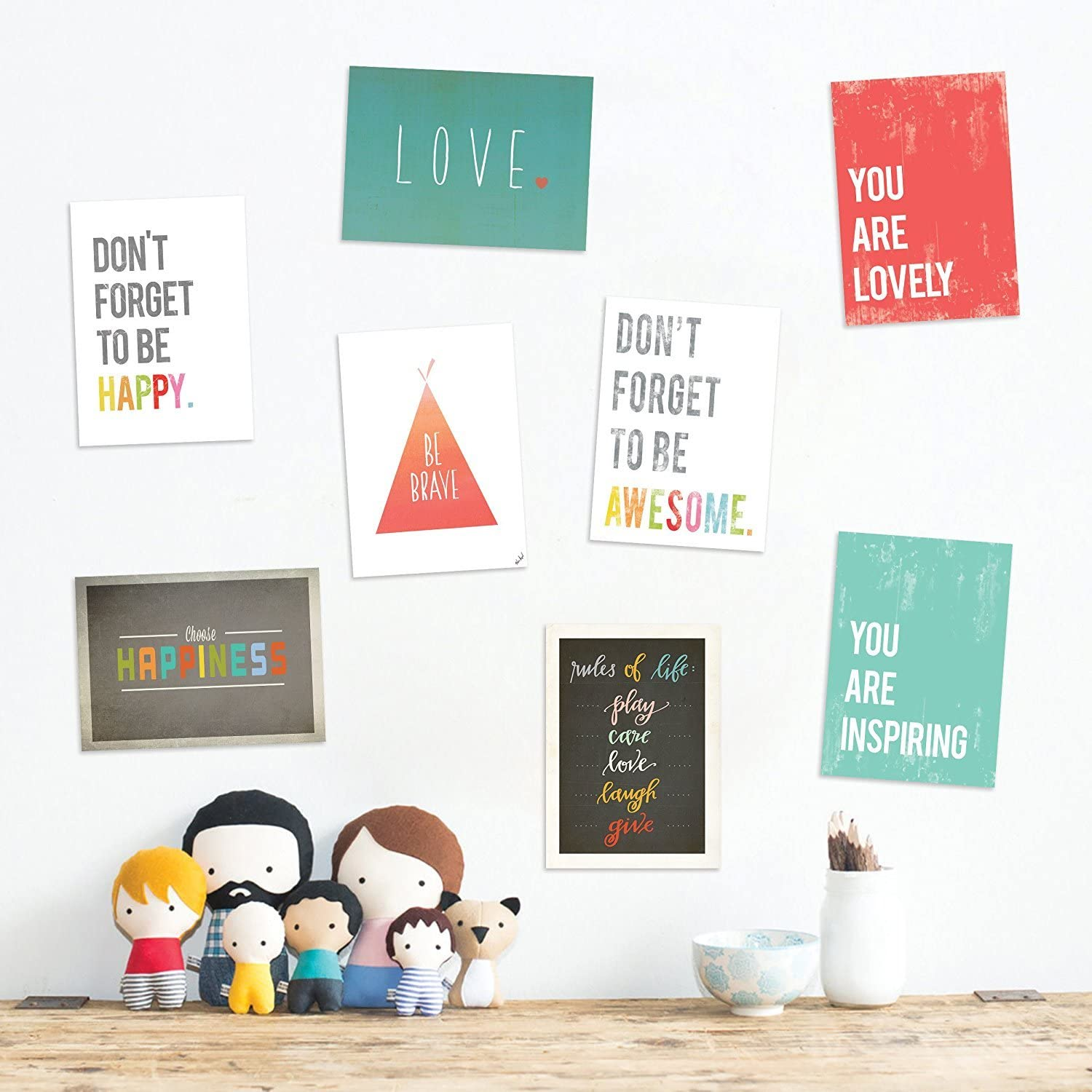 Children Inspire Design The Rules Mini Collection 5x7 Wall Art Prints, Typography, Nursery Decor, Kids Wall Art Print, Kids Room Decor, Gender Neutral, Motivational Word Ar