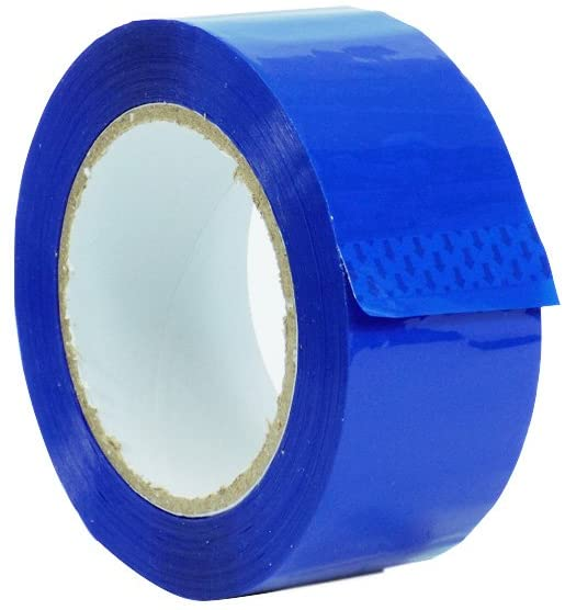 WOD OPP-20C Blue Carton Sealing Tape, Strong Heavy-Duty Industrial Shipping Packaging Tape for Moving, Office, Storage (Available in Multiple Sizes & Colors): 2 in. Wide x 110 yds. 2 mils Thick