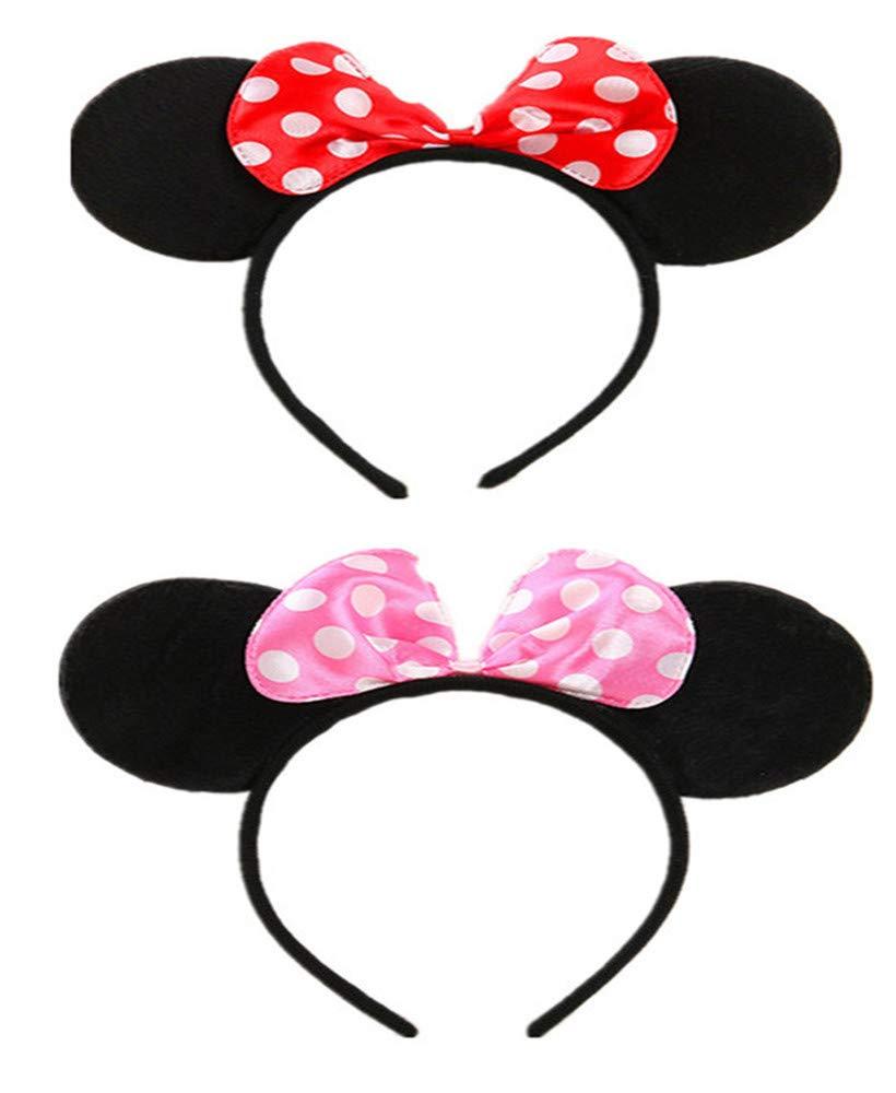 Mouse Ears Headbands Butterfly Glitter Hairband of 2