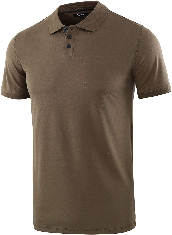 Estepoba Mens Casual Athletic Regular Fit Short Sleeve Jersey Polo Sport Shirt