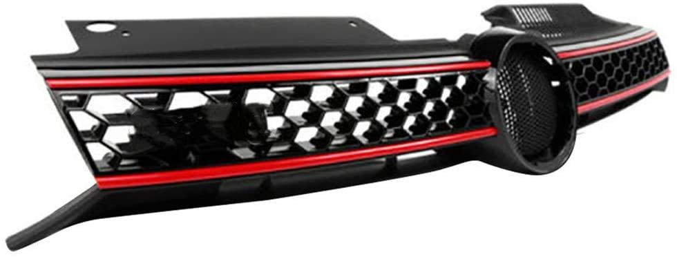 Front Upper Hood Grille Honeycomb Mesh Fit For 2010-2013 Vw Golf GTI/2014 Jetta Mk6 TDI