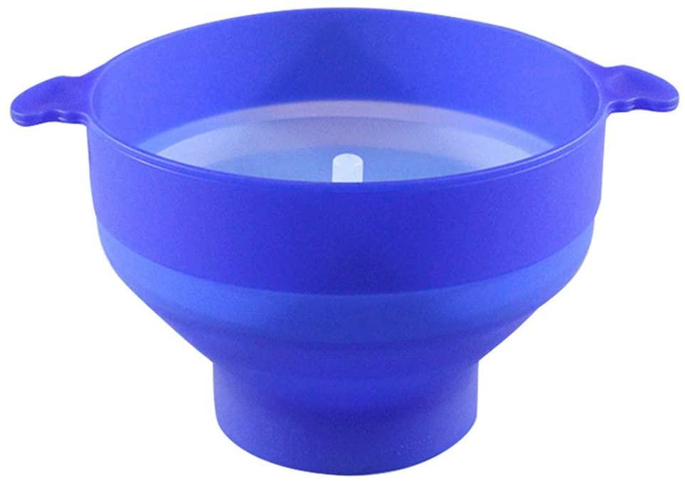 Meshin Silicone Microwave Popcorn Popper with Lid Home Microwave Popcorn Makers with Handle Collapsible Popcorn Bowl