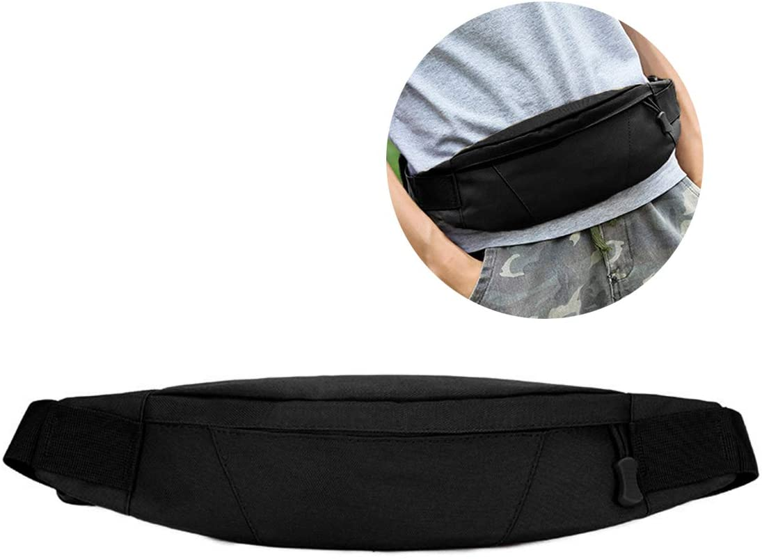 BraveHawk OUTDOORS Waist Pack Running Belt, 800D Military Nylon Oxford Water Resistant Utility EDC Fanny Bag Multipurpose Men Women Crossbody Chest Bag Organizer