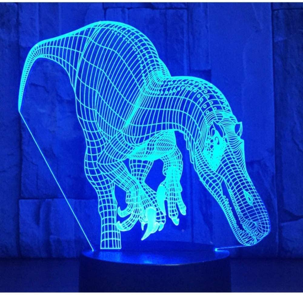 KLJLFJK 3D LED Night Light Dinosaur with 7 Colors Light for Home Decoration Lamp Amazing Visualization Optical