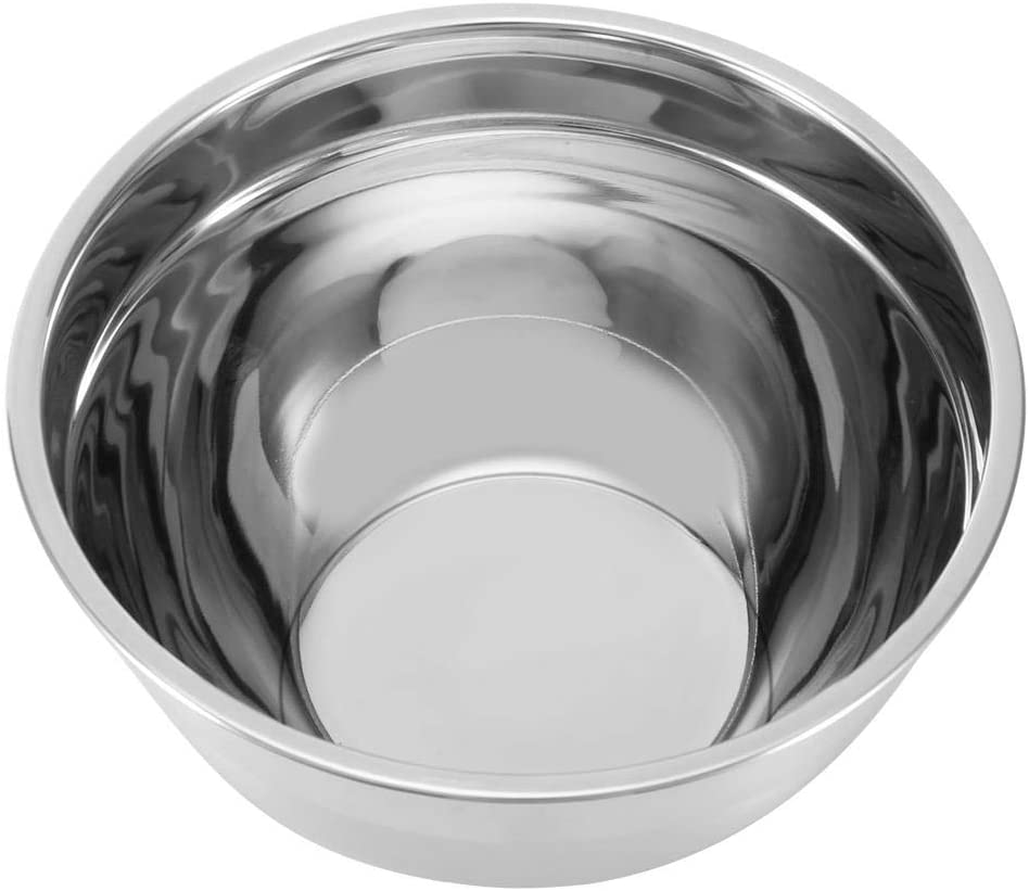 Mixing Bowl - Stainless Steel Baking Bowls Egg Beating Pan Mixing Bowl with Non-Slip Silicone Base