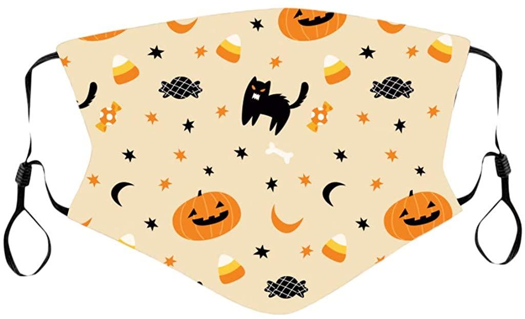 VANSOON Face_Masks for Children Kids Bandanas Reusable Cute Halloween Face Bandanas Set,Cotton,Back to School Supplies