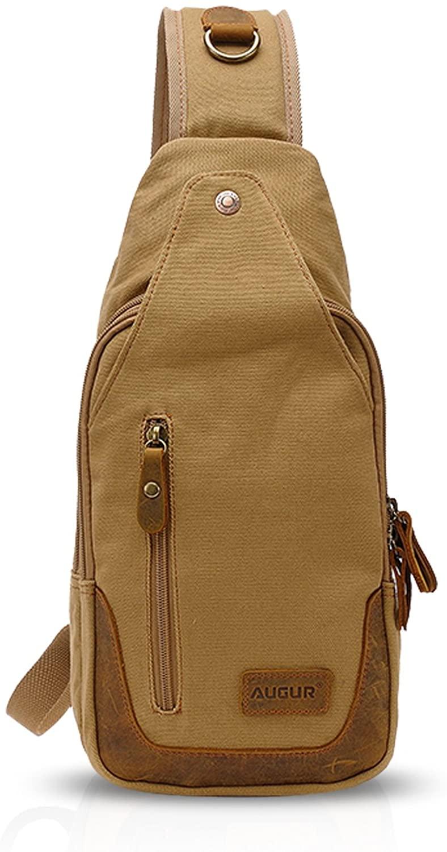 FANDARE Vintage Sling Bag Men/Women Chest Pack Shoulder Backpack Cross Body Bag Outdoor Sport Bag Travel Bag Canvas