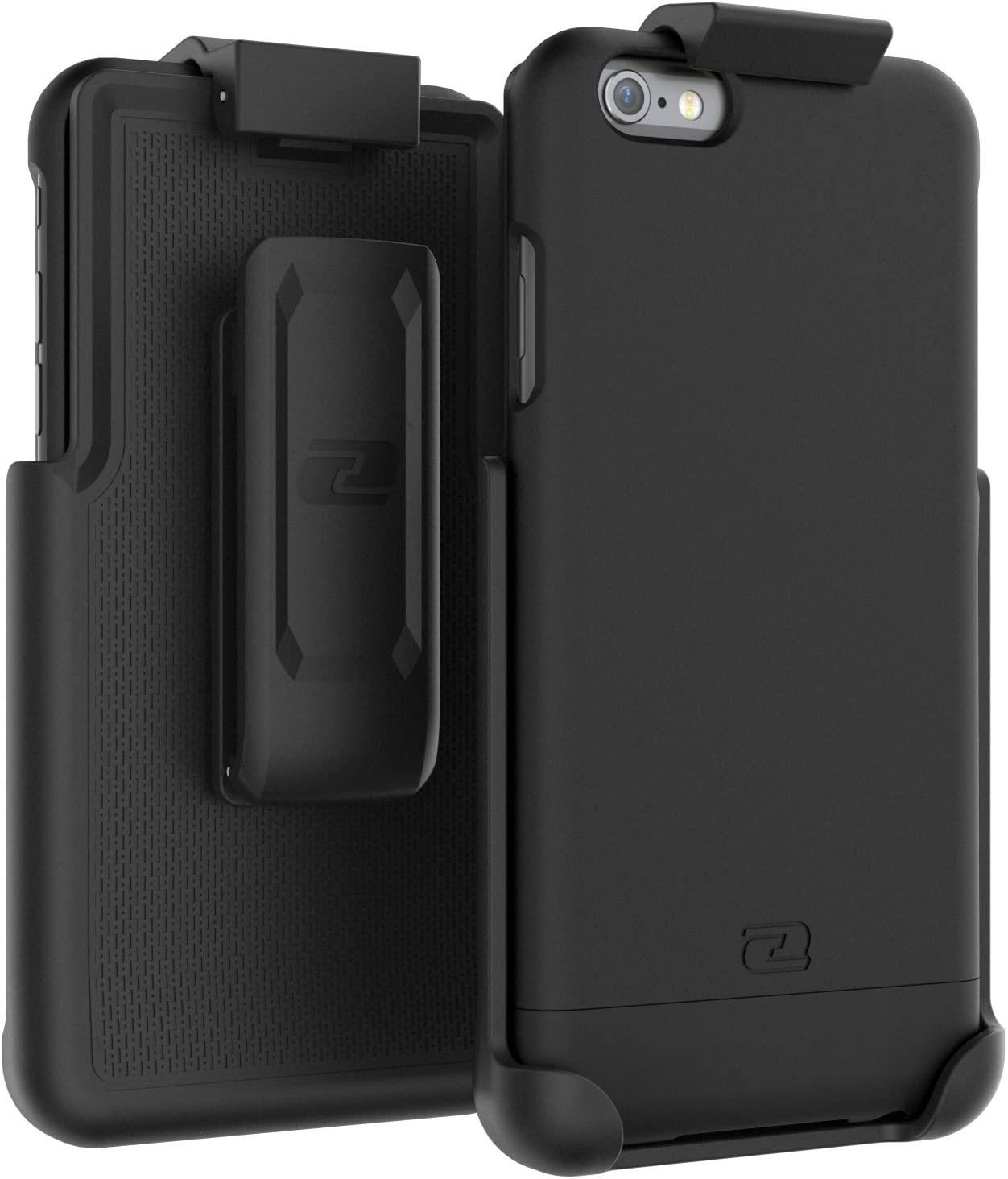 iPhone 6 Plus Belt Case, Encased Ultra Thin (2016 SlimShield Edition) Secure-fit Holster Clip & Tough Cover (for Apple iPhone 6 Plus 5.5