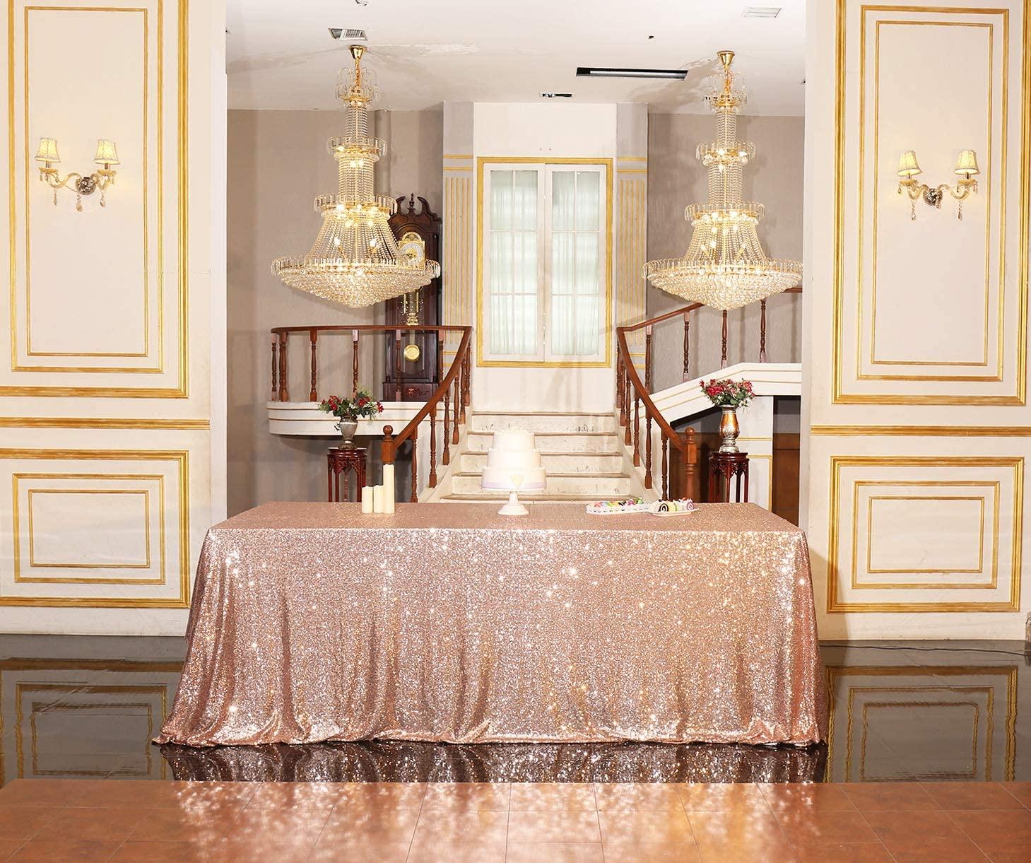 PartyDelight Sequin Tablecloth, Rectangular, 60