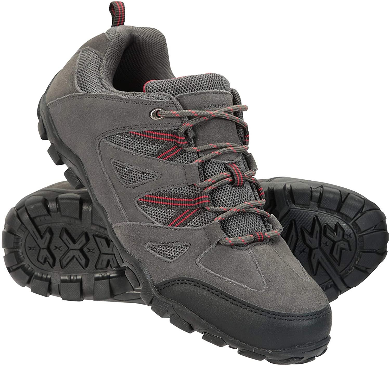 Mountain Warehouse Mens Walking Shoes - Suede Mesh Upper Footwear