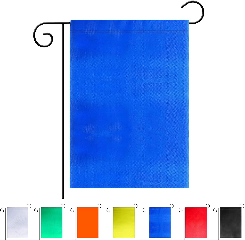 TSMD Solid Blue Garden Flag Double Sided Plain Blue DIY Flags,Outdoor Yard Decorative Flags,12