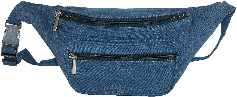 Magnifique Denim Waist Pack, Blue