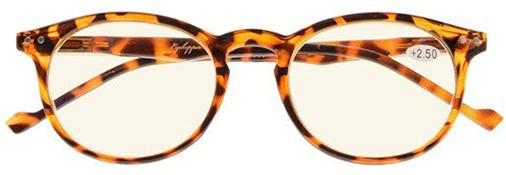 Ladies Computer Glasses Round Oval Blue Light Filter Reading Eyeglasses Women