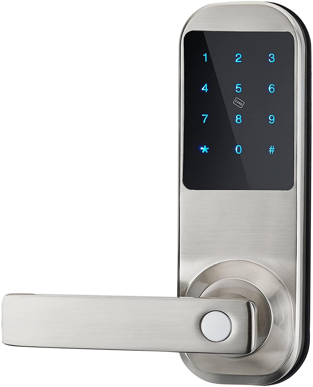 HAIFUAN Security Digital Keyless Code Door Lock, Unlock with Code Card and Key(HFAM10-L) (NB)