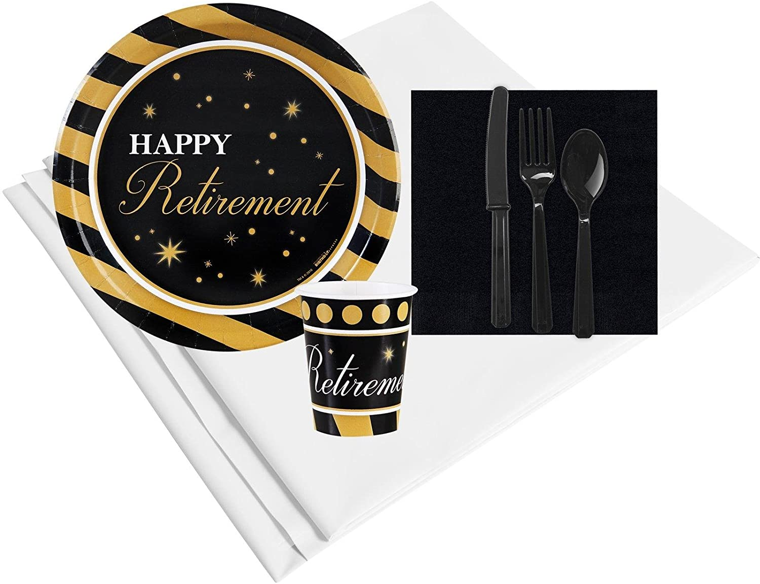 BirthdayExpress Officially Retired Retirement Party Supplies - Party Pack for 16