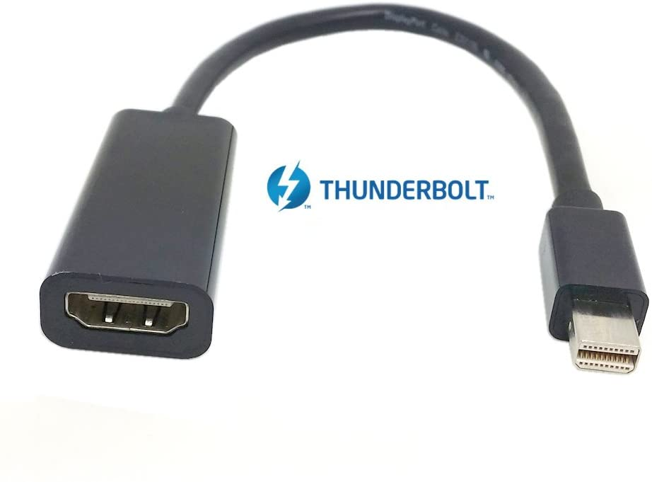 CY Thunderbolt Port to HDMI Female Audio Video Adapter Cable for 2011 2012 2013 Black