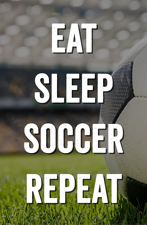 Damdekoli Eat Sleep Soccer Poster - 11x17 Inches