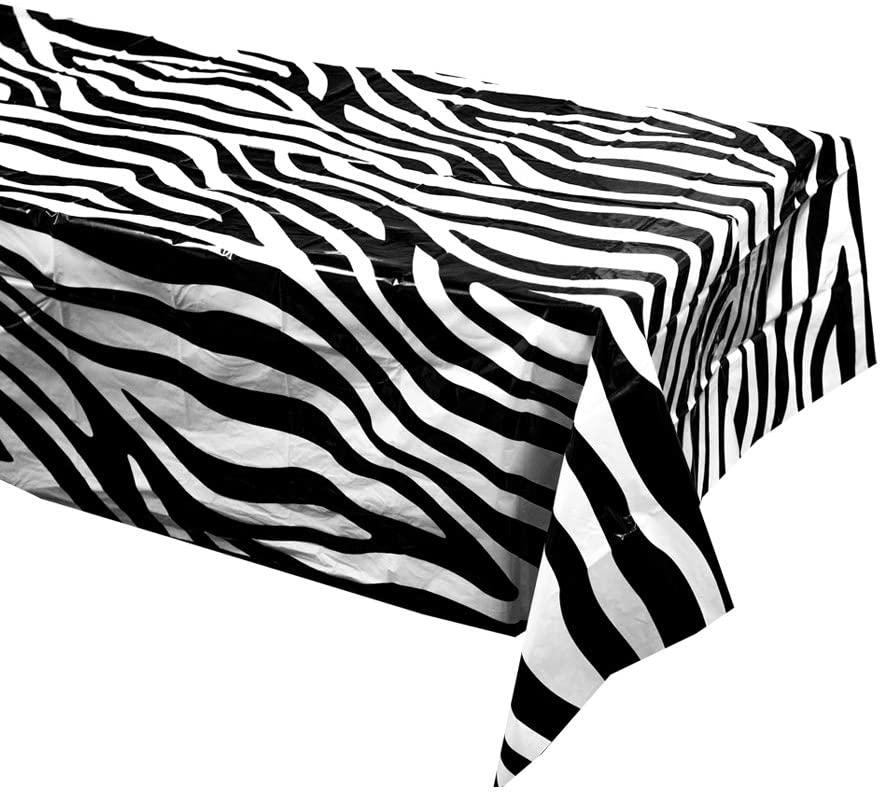 Zebra Table Covers (2), Zebra Party Supplies, Zebra Table Setting