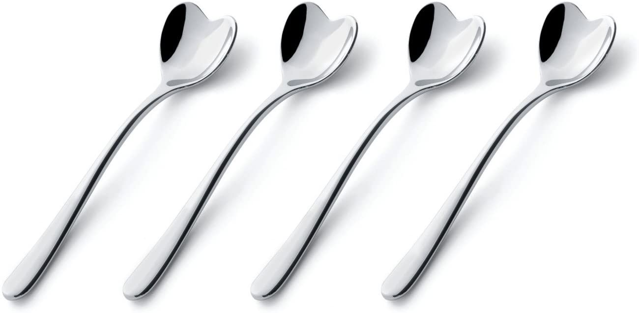 Alessi Il Caffe Alessi Set of 4 Heart-Shaped Spoons