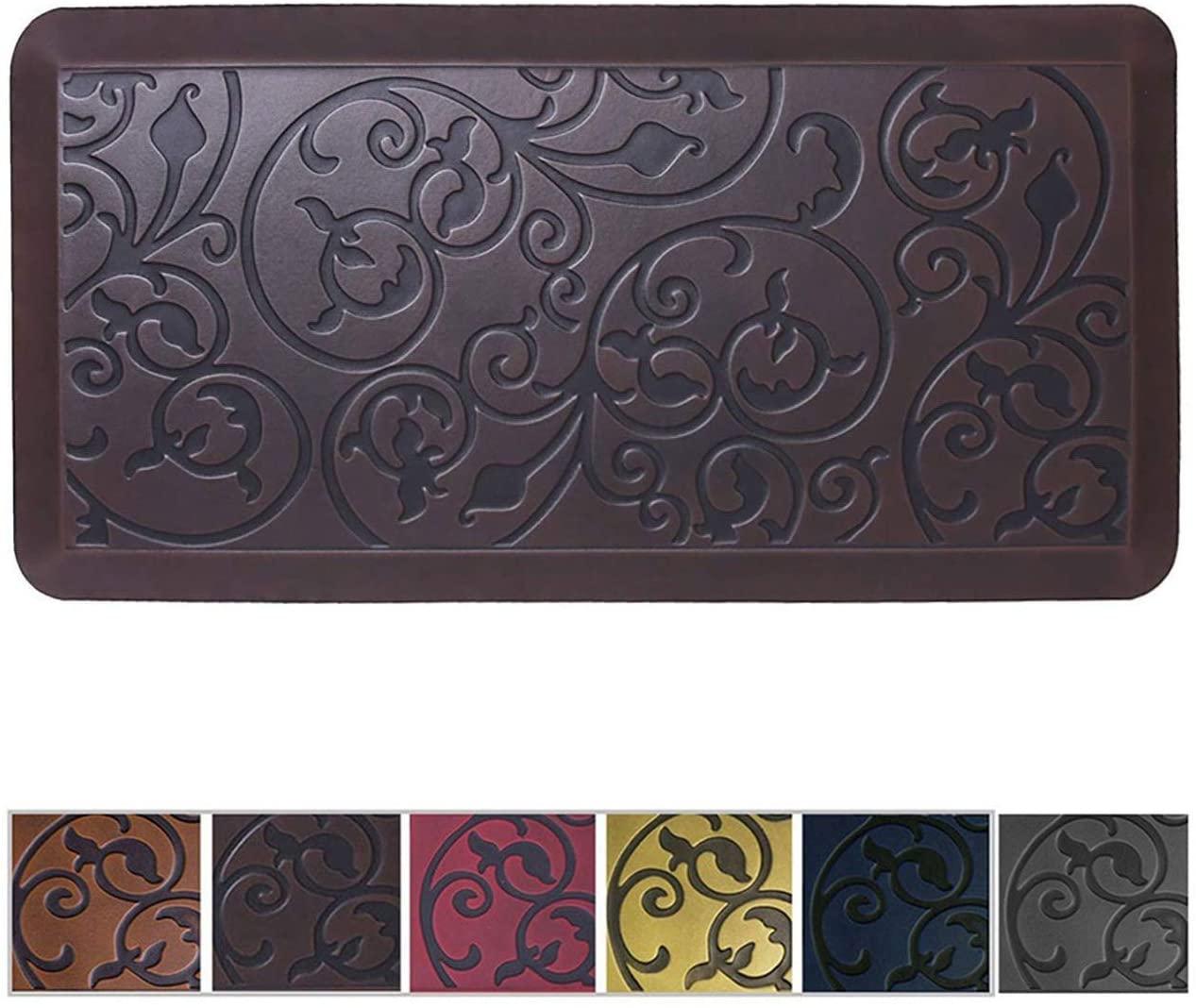 Amcomfy Premium Kitchen Anti Fatigue Mat,Comfort Floor Mats,Standing Mats,Antique Series (20 x 39 x 3/4 Inches, Antique Dark)