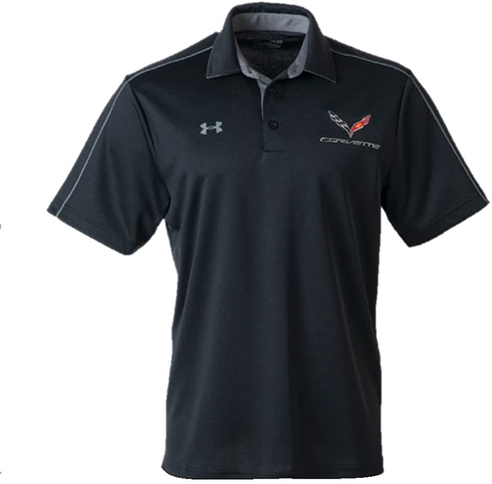 C7 Corvette Mens Under Armour Tech Polo Shirt