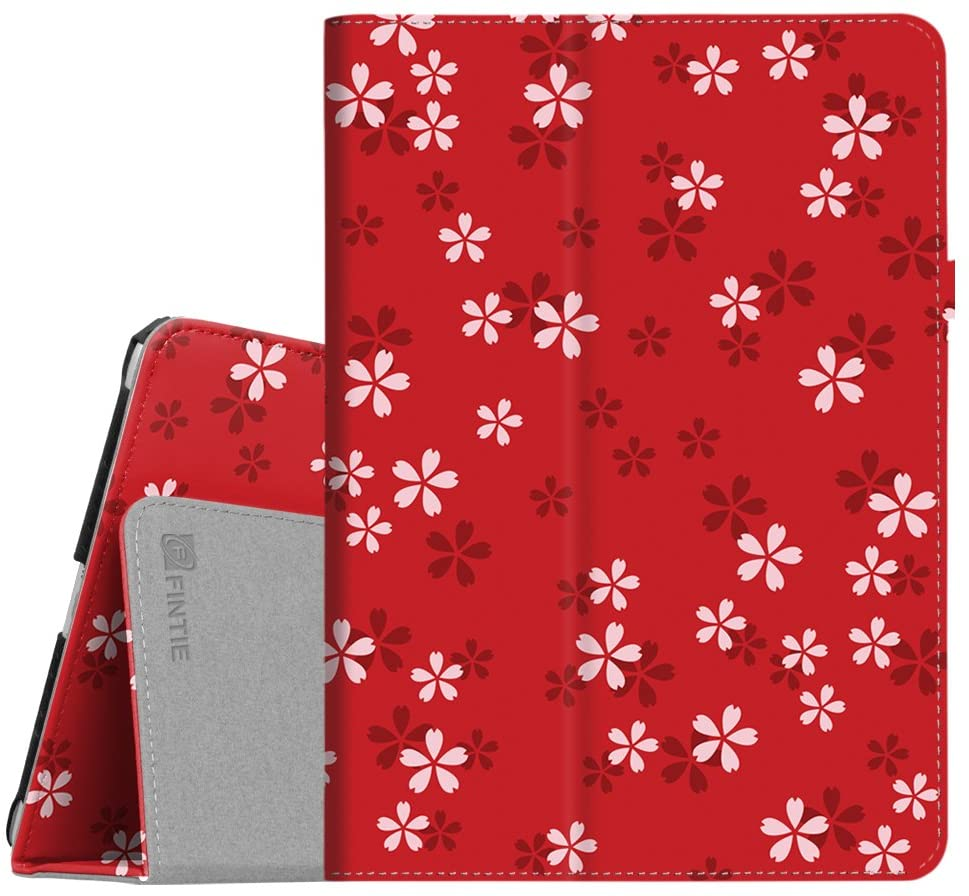Fintie Case for iPad 9.7 2018/2017, iPad Air 2, iPad Air - [Corner Protection] Premium Vegan Leather Folio Stand Cover, Auto Wake/Sleep for iPad 6th / 5th Gen, iPad Air 1/2, Floral Red