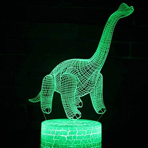 Night Lamp Dinosaur Series Colorful 3D Night Lamp Led Colorful Touch Remote Control Creative Gift Table Lamp Illusion Lamp Baby Lamp Ii