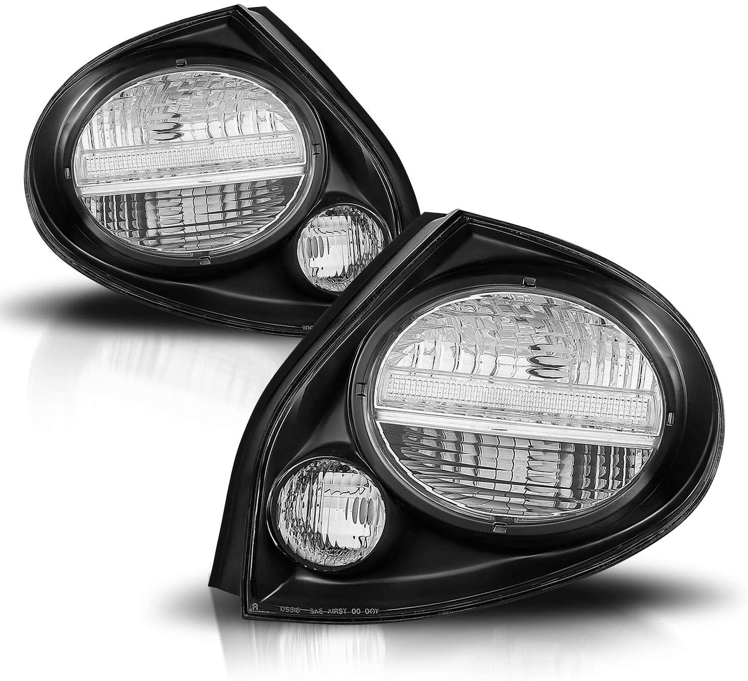 AmeriLite Taillights Black for Maxima - Passenger and Driver Side