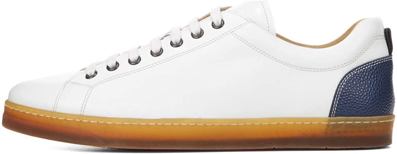 George Brown Bilt Men's Baldwin Lace to Toe Leather Sneakers