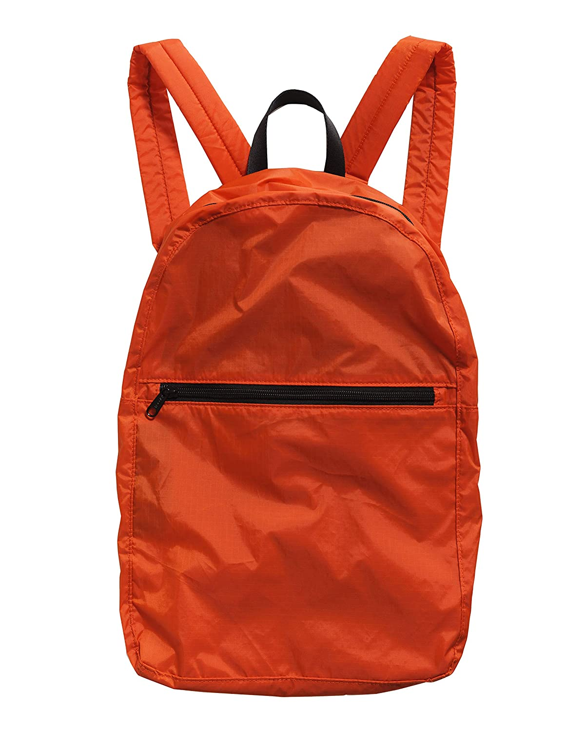 BAGGU Ripstop Nylon Backpack, Lightweight Packable Backpack Ideal for Travel or the Gym, Tomato