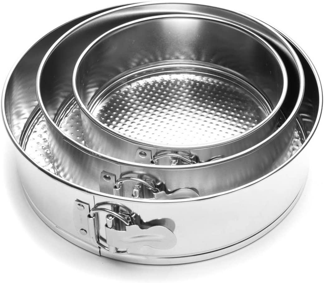 Fox Run Springform Pan Set, Tin-Plated Steel, 3-Piece