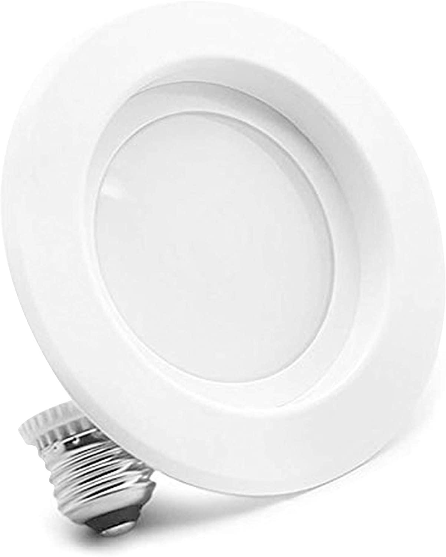 Bioluz LED 4-Inch LED Retrofit Recessed Light 65W Equivalent (Using 10W) 700 Lumen, 90 CRI, Dimmable, UL-Listed CEC JA8 Title 24 Compliant (1-Pack, 4000K Daylight)