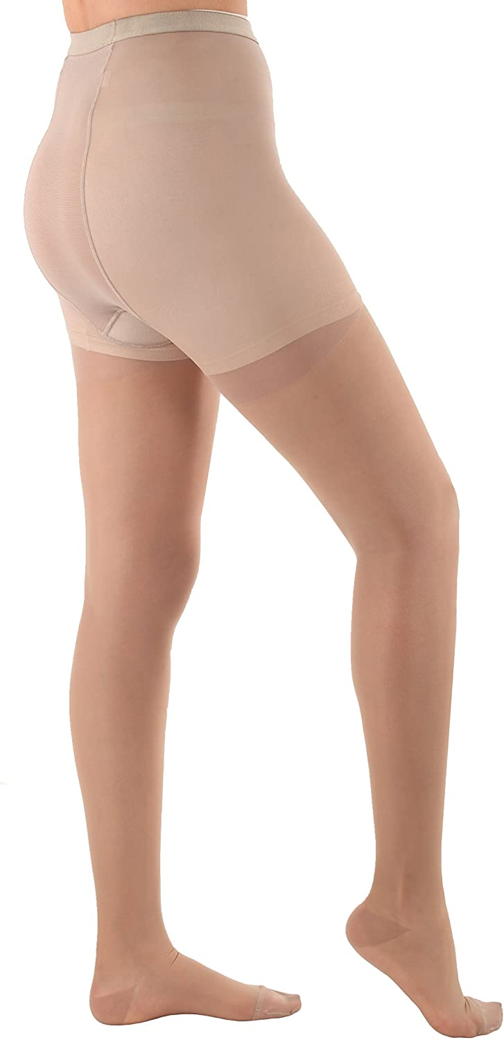 Sheer Compression Firm Support Pantyhose 20-30mmHg - Nude, 3XL - Absolute Support Model A207 - Made in USA