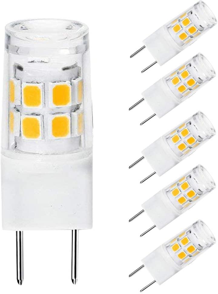 G8 LED Light Bulb 2.5 Watts G8 Base Under Counter Bi-pin Xenon JCD Type LED 120V 25W Halogen Replacement Bulb for Kitchen Lighting, Under-Cabinet Light Warm White 3000K. (5-Pack)