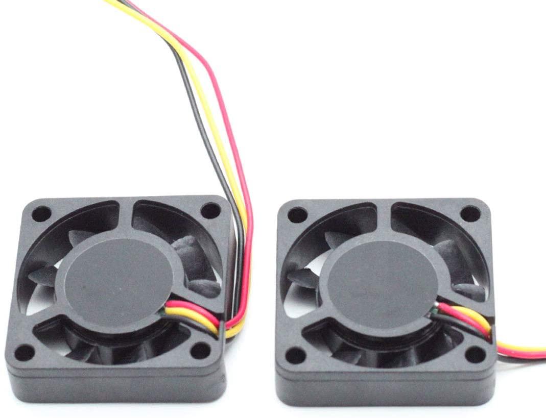 Aodesy 2 Piece 12VDC Exhaust Heatsink 40x40x10mm Cooling Case Fan Black 3Pins Connector (DC 12V 1.6