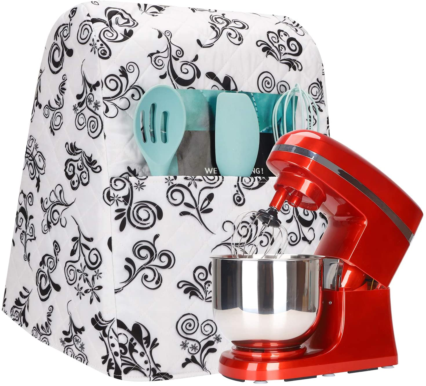 Kitchen Mixer Cover, Thick Kitchen Mixer Protector With Small Compartment, Dust-Proof Stand Mixer Cover, Cover For Kitchen Mixer Perfect Gift For Mom JJZ584