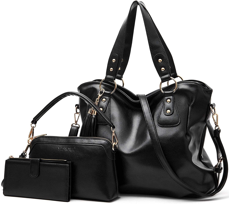 Purses and Handbags for Women Hobo Bag ladise Fashion Large Tote Shoulder Bags wallets Satchel Purse Set 3pcs