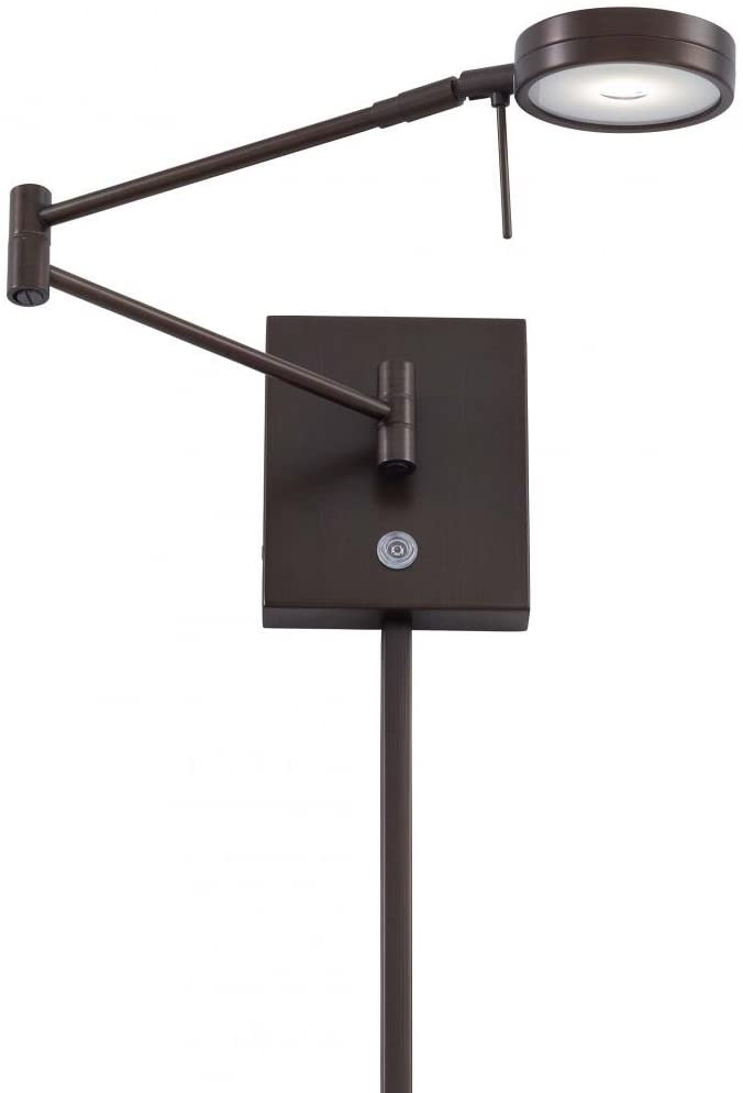 George Kovacs P4308-647 George's Reading Room Swing Arm Wall Sconce Light with Z05 LED Bulb, Copper Bronze Patina