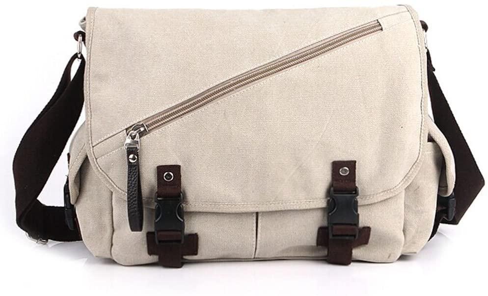 Trendsetter Item/Casual Canvas Messenger&Shoulder Bag/Beige (331232cm)