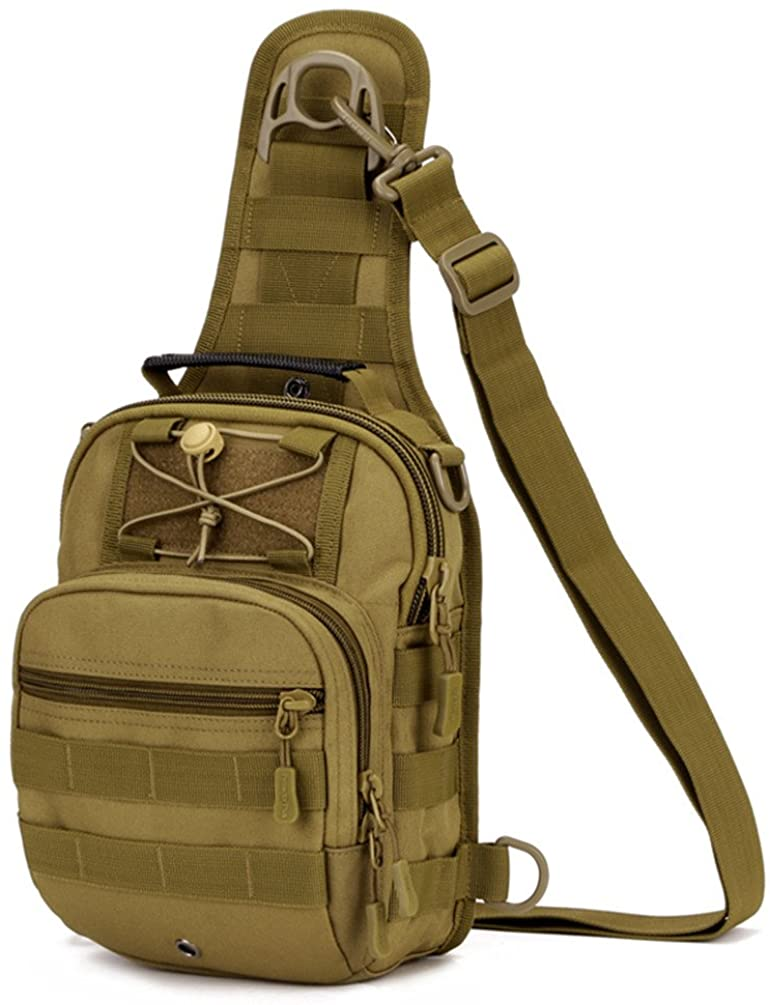 Tactical Sling Chest Pack Large MOLLE Crossbody Shoulder Bags Gear Duty Daypack