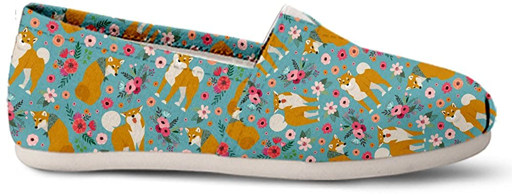 Gnarly Tees Shiba Inu Flower Casual Shoes