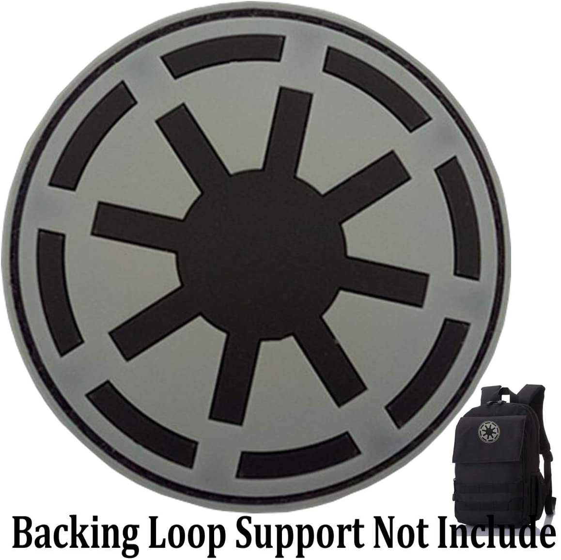 Star Wars Imperial Patch Galactic Empire Imperial Seal Patches PVC Morale Patch(Galactic Empire-Grey)