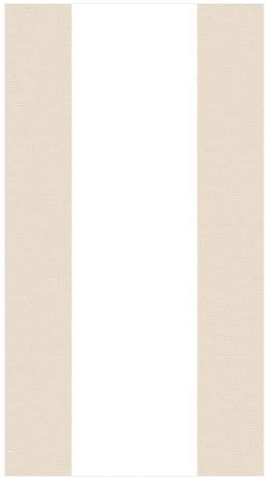 Caspari Bandol Stripe Paper Guest Towel Napkins in Natural, 30 Count