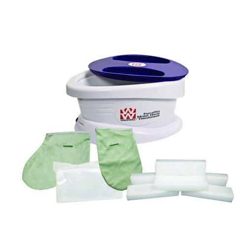 Waxwel Paraffin Wax Bath Unit w/Rose Blossom Kit: Includes 6 lb Rose Blossom Wax, 100 Liners, 1 Mitt, 1 Bootie