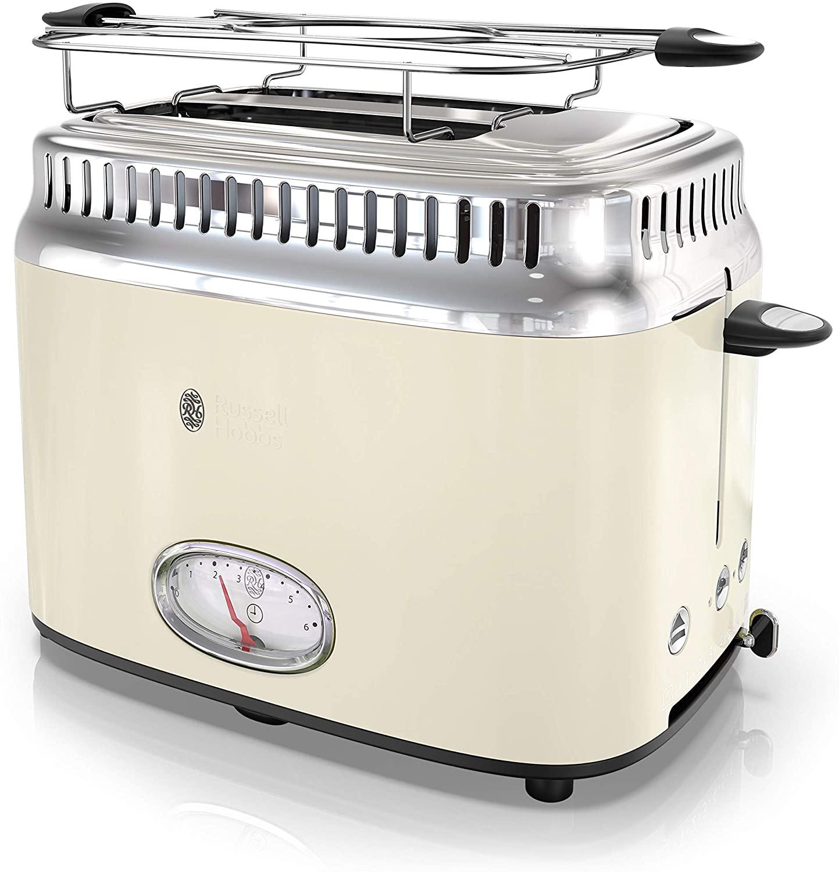 Remington Russell Hobbs TR9150CRR Retro Style 2-Slice Toaster, Cream