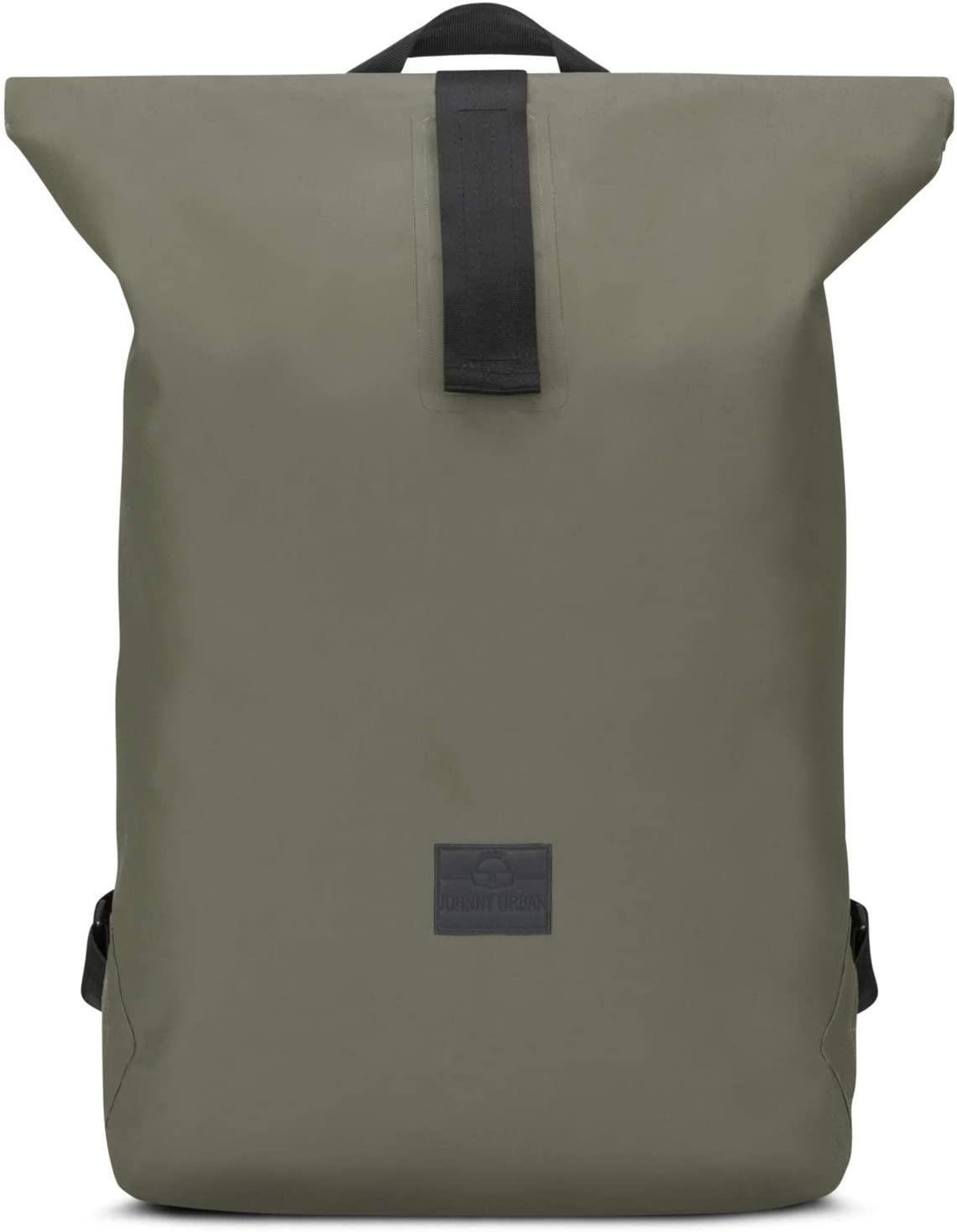 Roll Top Backpack Waterproof Women & Men Olive Green - JOHNNY URBAN